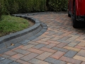 Driveway with high rise kerb border