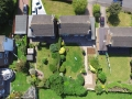 Aerial shot of new patio and garden