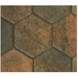 Hexagonal Burnt Ochre
